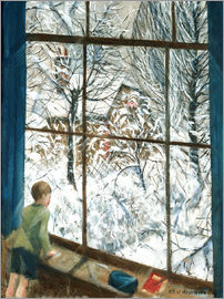 Christopher Nevinson - View of the snow