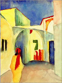 August Macke - View of an Alley in Tunis