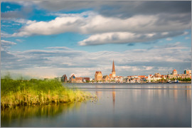Rico Ködder - View over the river Warnow to Rostock (Germany)