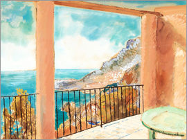 Isaac Grünewald - View from the terrace, Mediterranean