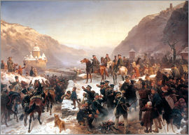 Wilhelm Camphausen - Blücher crossing the Rhine at Caub