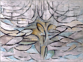 Piet Mondrian - Blooming apple tree