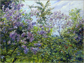 Max Slevogt - Blossoming lilac. About 1921