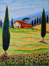 Christine Huwer - Flowering Poppies of Tuscany 4