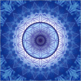 Christine Bässler - Flower of life blue