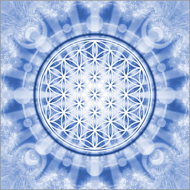 Lava Lova - flower of life blue - symbol harmony and balance - blue