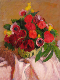 Roderic O'Conor - Mixed flowers on pink cloth