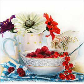 Maria Mishkareva - Flowers and berries watercolor painting