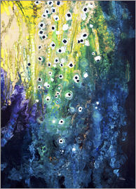 Tara Thelen - Flowers and waterfall after Klimt
