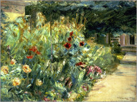 Max Liebermann - Flower Garden in Giverny at the Wannsee