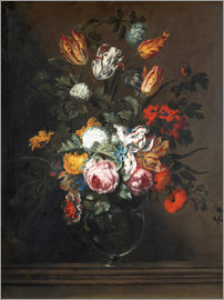 Jan Brueghel d.Ä. - Bouquet of flowers in a Venetian glass vase