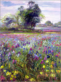 Timothy Easton - Flower field with tree