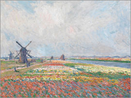 Claude Monet - Flower fields and Windmills
