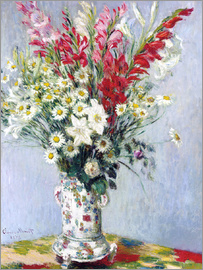 Claude Monet - Bouquet of gladioli, lilies and daisies