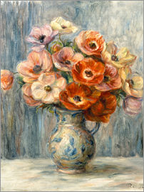 Pierre-Auguste Renoir - Bouquet in ceramic jug