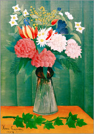Henri Rousseau - Bouquet of flowers with a branch of ivy