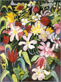 August Macke - Carpet of flowers