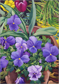 Christopher Ryland - Flower pots with pansies, 2007
