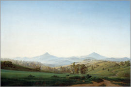 Caspar David Friedrich - Bohemian landscape with the Milleschauer