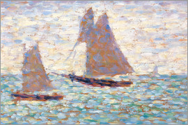 Georges Seurat - Boats In Harbor