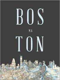 Amelia Gier - Boston Skyline Map