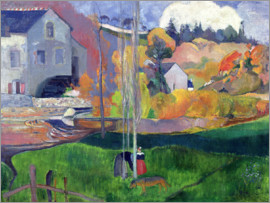 Paul Gauguin - Brittany Landscape: the David Mill