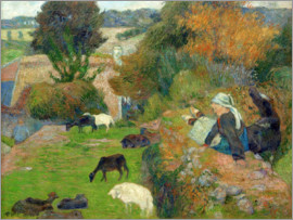 Paul Gauguin - Bretonnian Shepherdess
