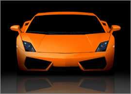 Bright orange supercar