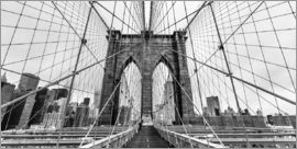 Sascha Kilmer - NYC: Brooklyn Bridge (monochrome)