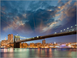 Brooklyn Bridge in stunning colors