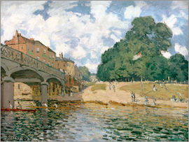 Alfred Sisley - Bridge near Hampton Court