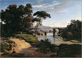 Jean-Baptiste Camille Corot - The Bridge at Narni