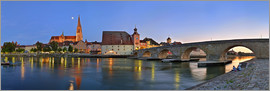 Fine Art Images - Bridge Panorama of Regensburg