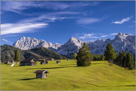 Udo Siebig - Buckel meadows against Karwendel mountains