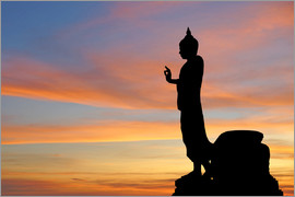 buddha with beautiful sky