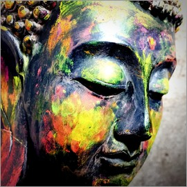 colorful Buddha head