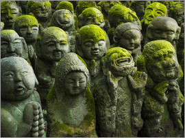 Jan Christopher Becke - Buddhist statues in Otagi nenbutsu-ji in Kyoto, Japan