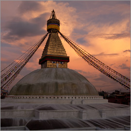 Buddhist Shrine Boudhanath Stupa in Nepal, Kathmandu
