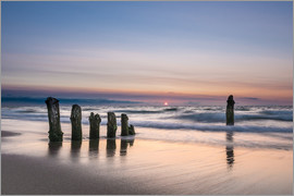 Rico Ködder - Groyne on the Baltic Sea coast in sunset light