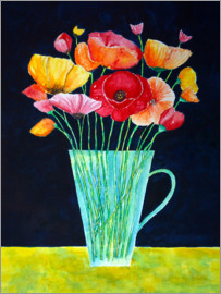 siegfried2838 - Colorful flowers vase of poppies painting
