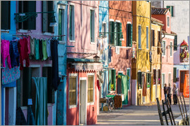 Matteo Colombo - Colourful houses in the island of Burano, Venice, Italy