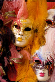 Bill Bachmann - Colorful carnival party masks for sale in Venice