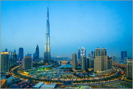 Fraser Hall - Burj Khalifa and Downtown Dubai at dusk