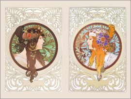 Alfons Mucha - Byzantine heads, collage