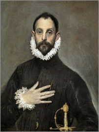 Dominikos Theotokopoulos (El Greco) - The Caballero with his Hand on His Heart