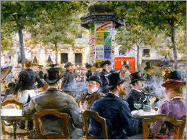 Louis Anet Sabatier - Cafe Scene in Paris, 1884