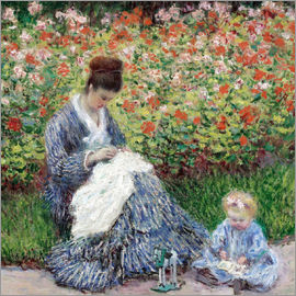 Claude Monet - Camille Monet and a Child in a Garden