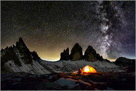 Dieter Meyrl - Loneley camper with Milky Way at Dolomites