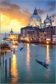 Jan Christopher Becke - Grand Canal with Santa Maria della Salute in Venice, Italy