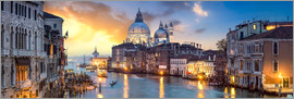 Jan Christopher Becke - Canal Grande panorama in Venice, Italy